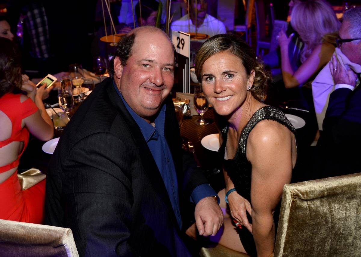 Brian Baumgartner & Brandi Chastain at MJCI Gala, ARIA Resorte & Casino, Las Vegas, 4.4.14
