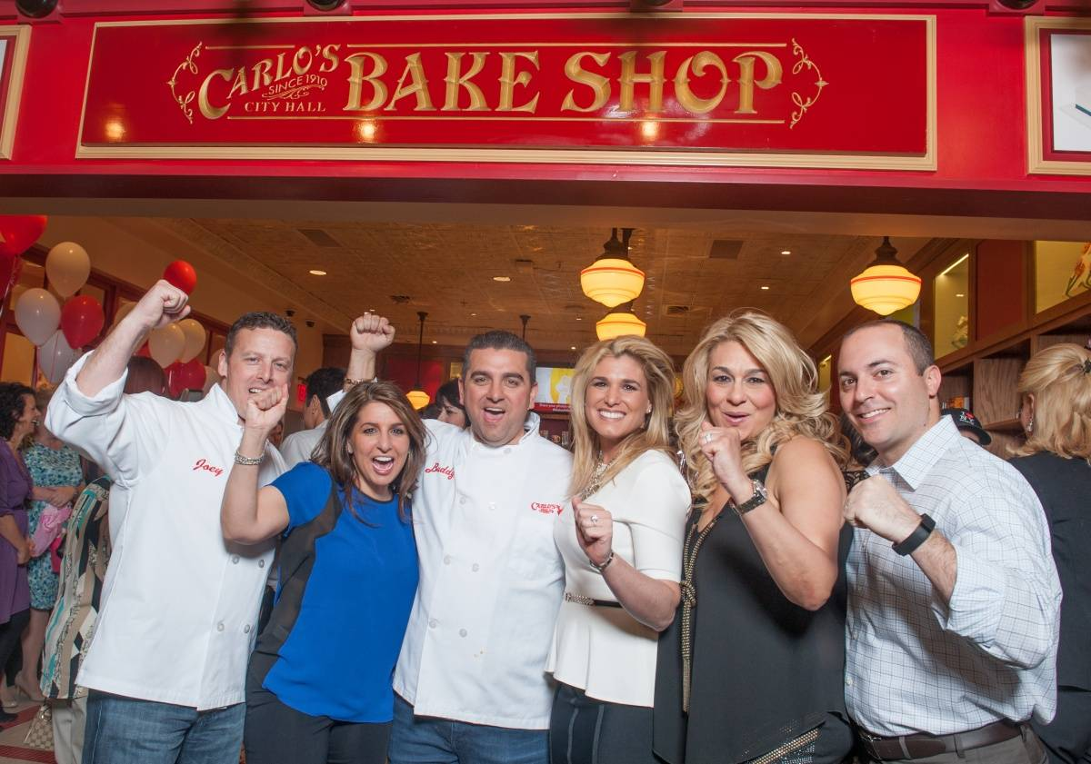 Buddy Valastro and family at Venetian Vegas Grand opening