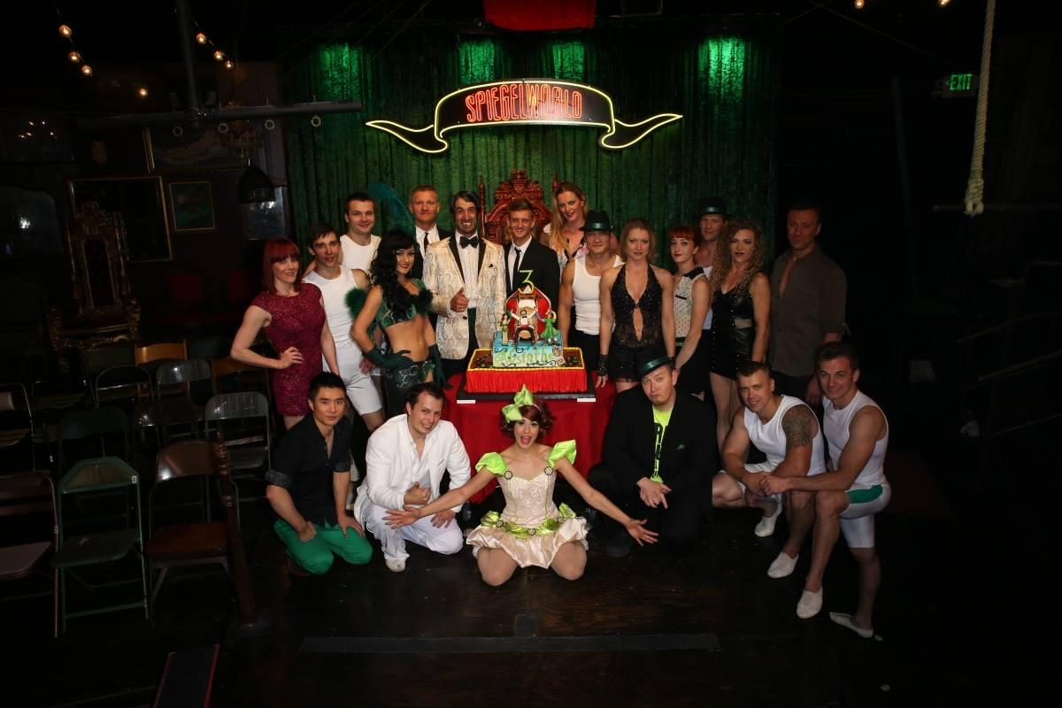 Cast of ABSINTHE - ABSINTHE Third Anniversary 4.16.14 (C) Gabe Ginsberg-Vegas Kool