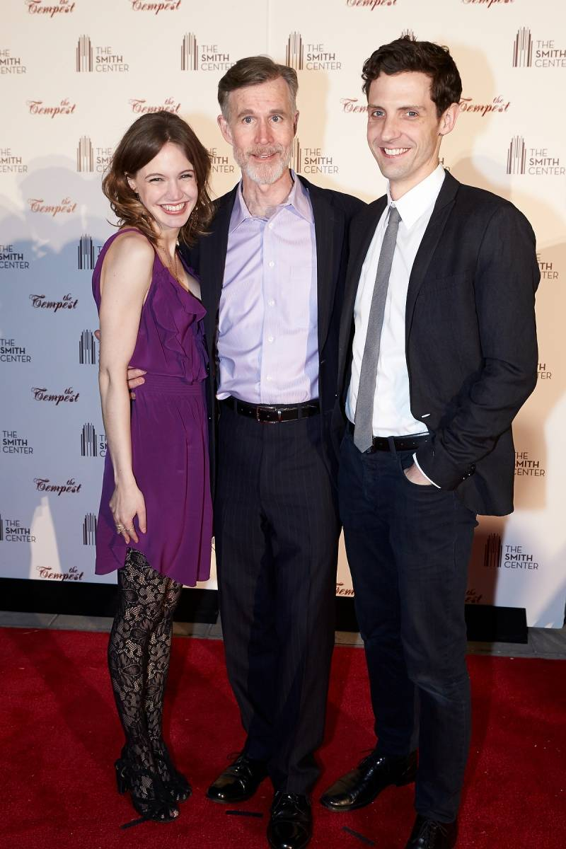 Charlotte Graham, Tom Nelis and Joby Earle at the World Premiere of THE TEMPEST 4.5.14 (C) Geri Kodey-The Smith Center