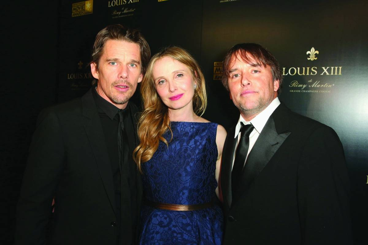 Ethan Hawke, Julie Delpy, Richard Linklater, Getty Images for LOUIS XIII