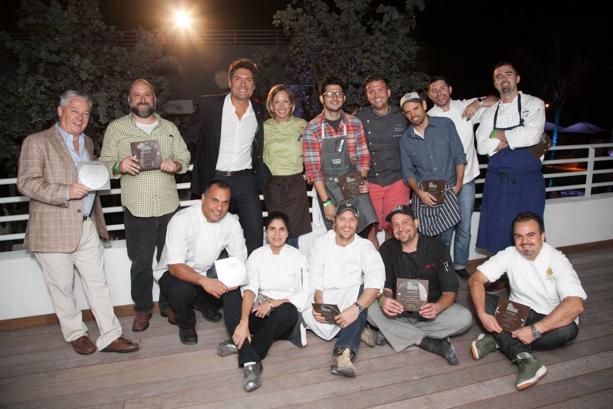 Host Louis Aguirre and Participating Chefs --  photo credit Brett Hufziger