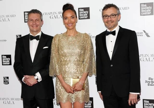 Jaeger-LeCoultre CEO Daniel Riedo, Carmen Chaplin, Communication Director Laurent Vinay - 41st Chaplin Award Gala