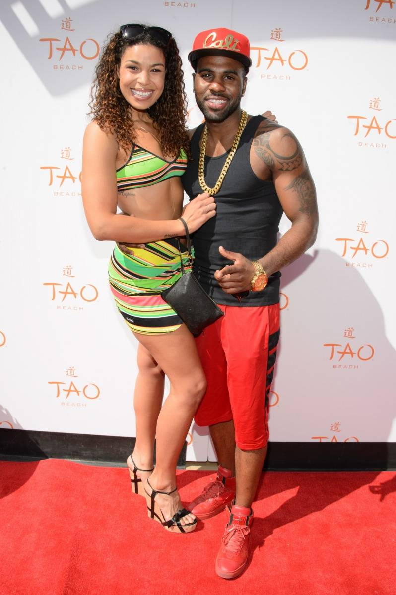 Jordin Sparks and Jason Derulo Walk TAO Beach Red Carpet