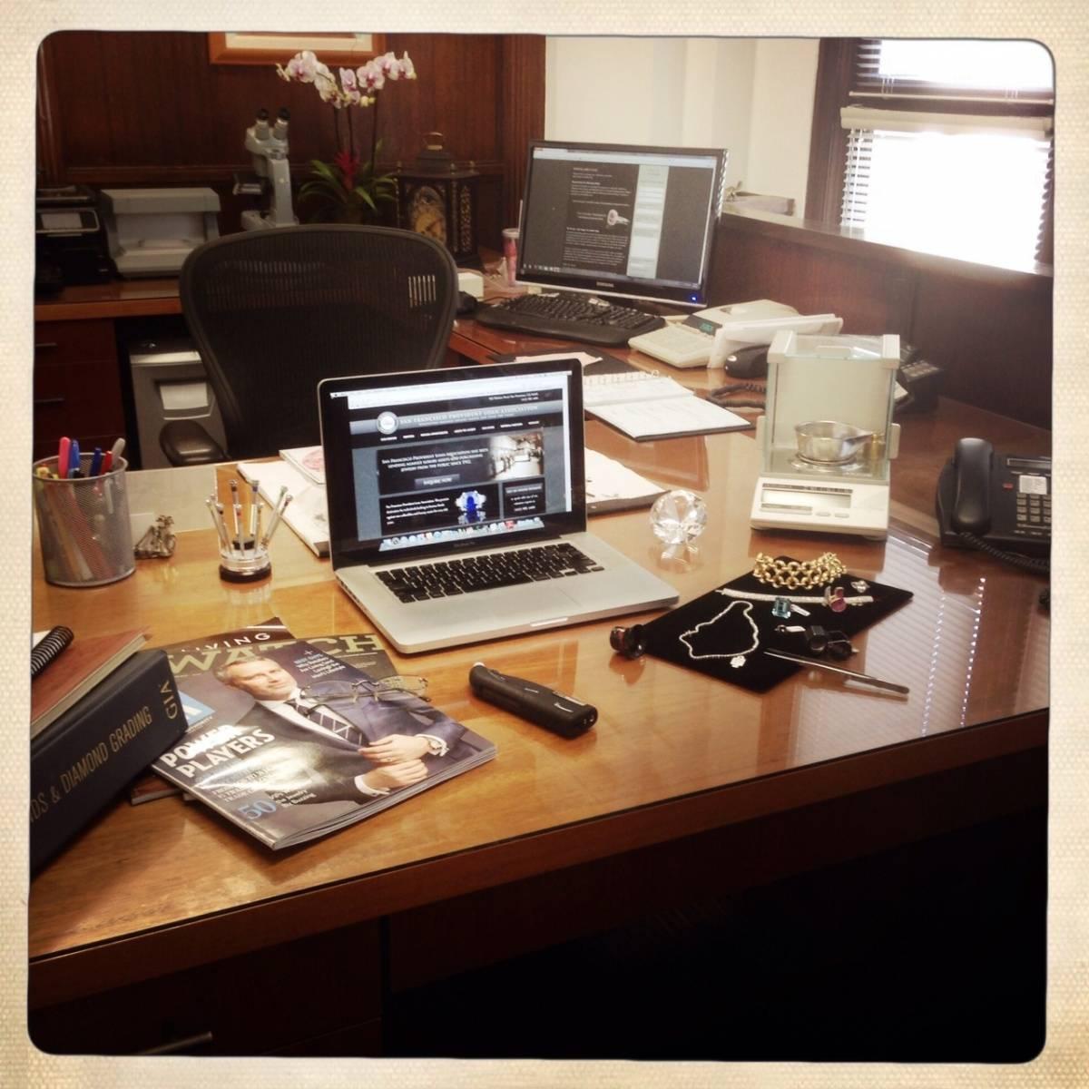 Joseph and Marcus Chait's desk