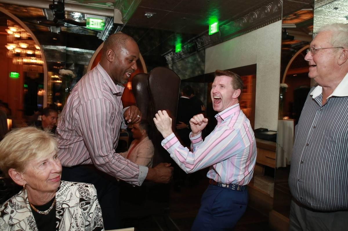 Lennox boxing Tommy with Bob Farmer