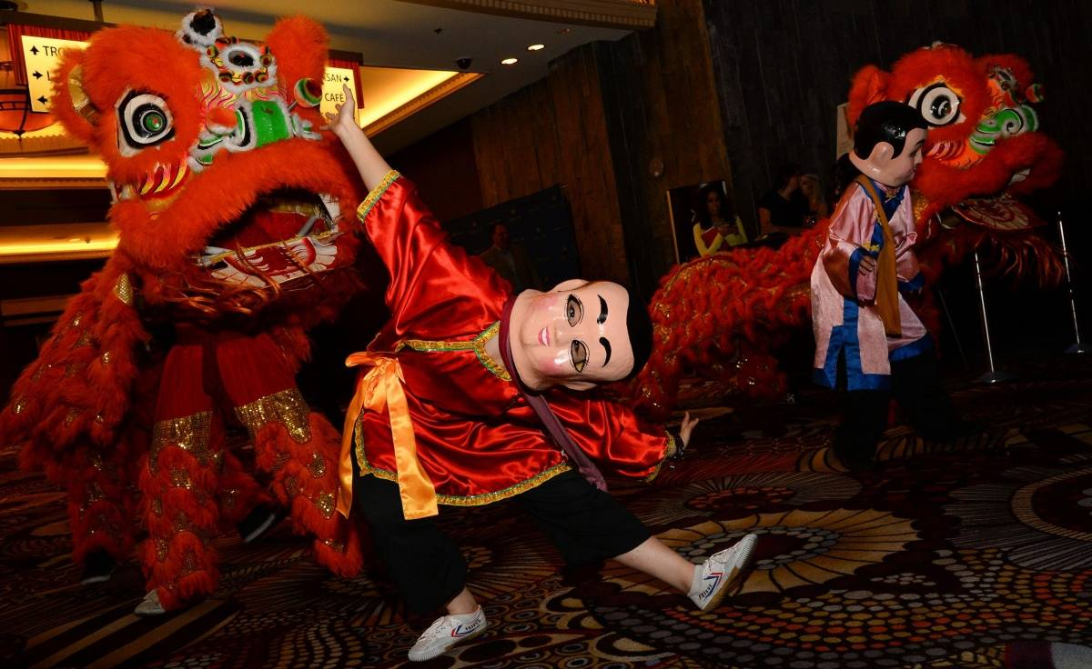 Lion dancers_Restaurant Anniversary_AP