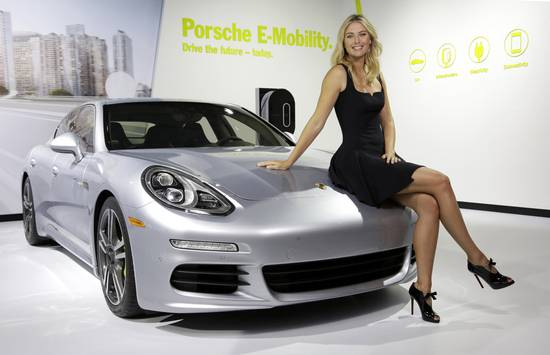 Maria Sharapova with Panamera S E-Hybrid