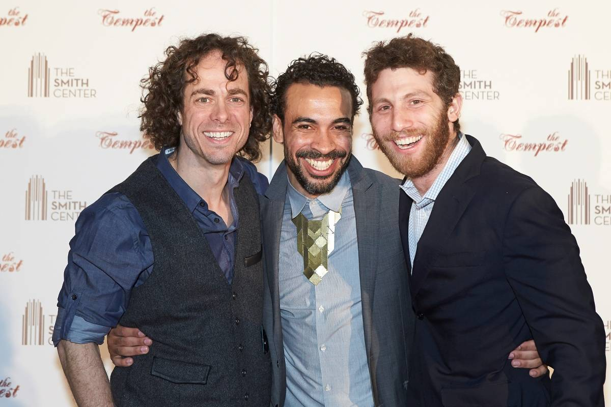 Matt Kent, Manelich Minniefee & Zachary Eisenstat at World Premiere of THE TEMPEST 4.5.14 (C) Geri Kodey-The Smith Center for the Performing Arts