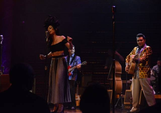 Melody Sweets Performing with the Cast of MILLION DOLLAR QUARTET Las Vegas 4.22.14 (C) Caesars Entertainment (2)