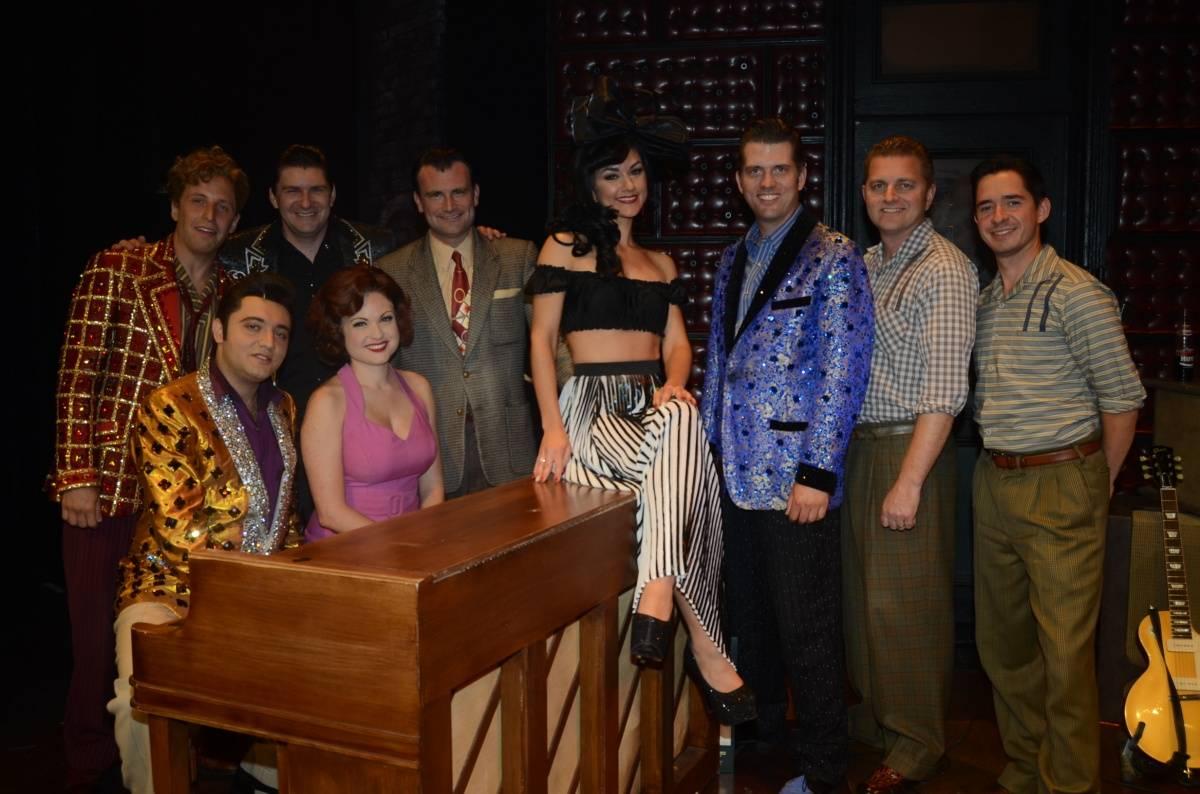 Melody Sweets with the Cast of MILLION DOLLAR QUARTET Las Vegas 4.22.14 (C) Caesars Entertainment (3)