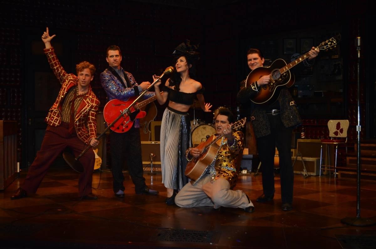 Melody Sweets with the Cast of MILLION DOLLAR QUARTET Las Vegas 4.22.14 (C) Caesars Entertainment