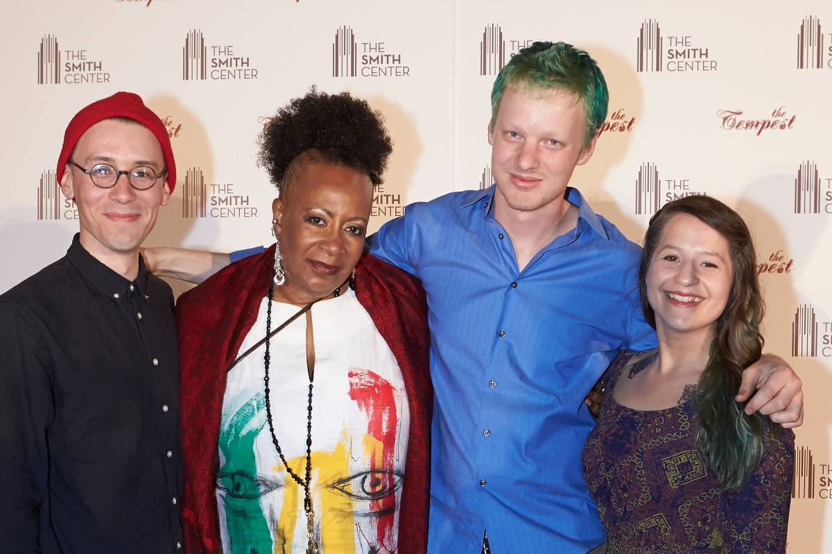Michael Brun, Miche Braden, Nate Tucker & Shaina Taub of Rough Magic at World Premiere of THE TEMPEST 4.5.14 (C) Geri Kodey-The Smith Center