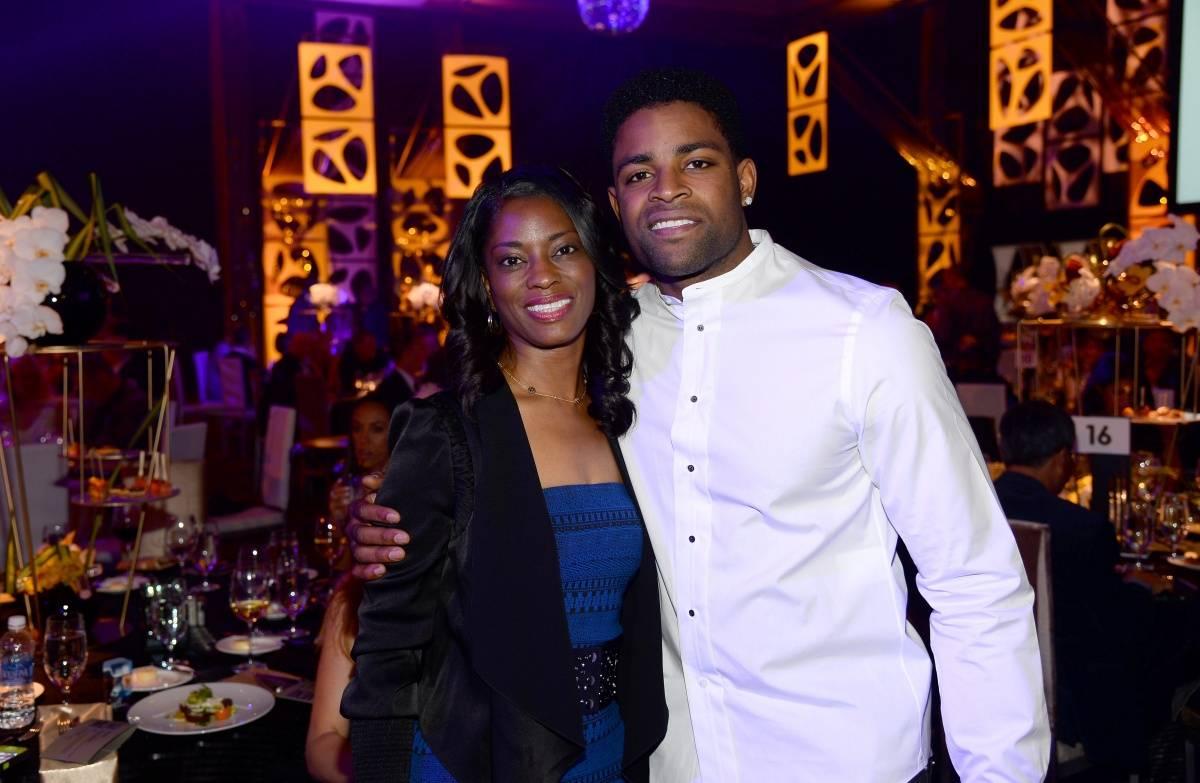 Michael Crabtree at MJCI Gala ARIA Las Vegas 4.4.14
