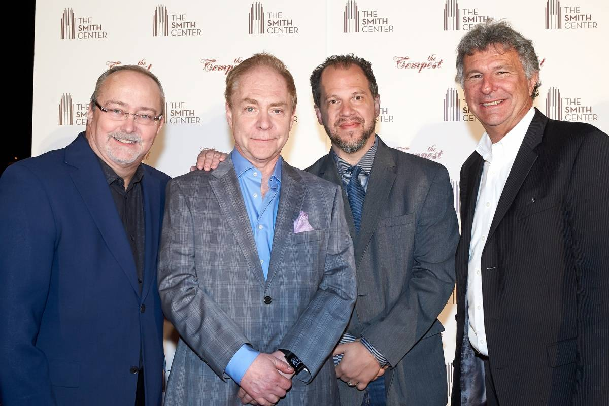 Myron Martin, Teller, Aaron Posner and Paul Beard at World Premiere of THE TEMPEST 4.5.14 (C) Geri Kodey-The Smith Center