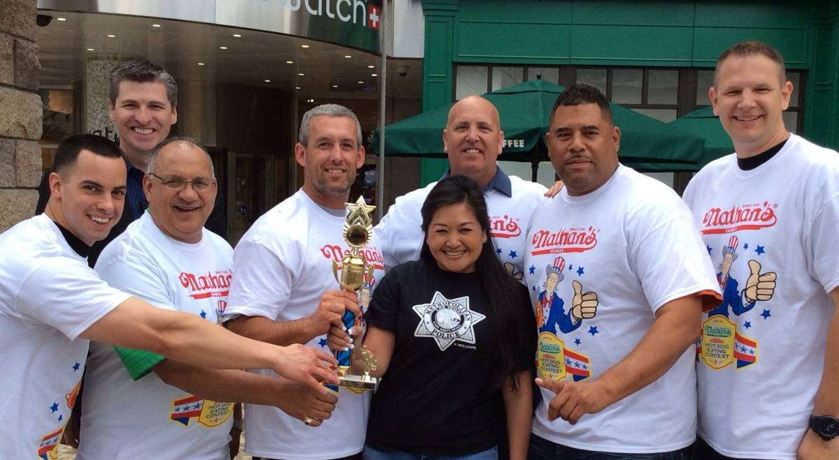 Nathan's Famous Hot Dog Eating Contest - Heroes Winners LVMPD