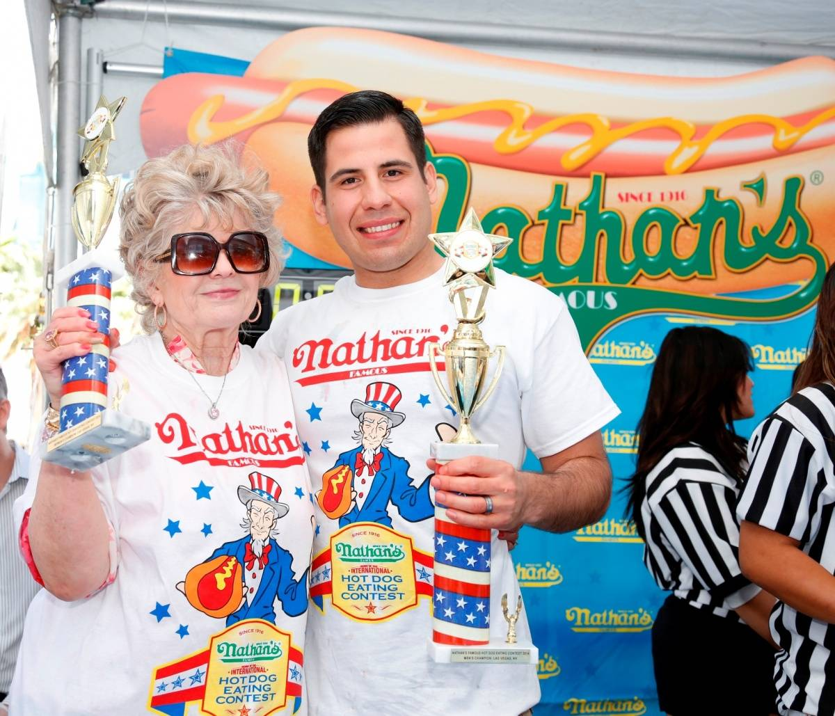 Nathan's Famous Hot Dog Eating Contest – Winners Pablo Martinez & Carlene LaFevre