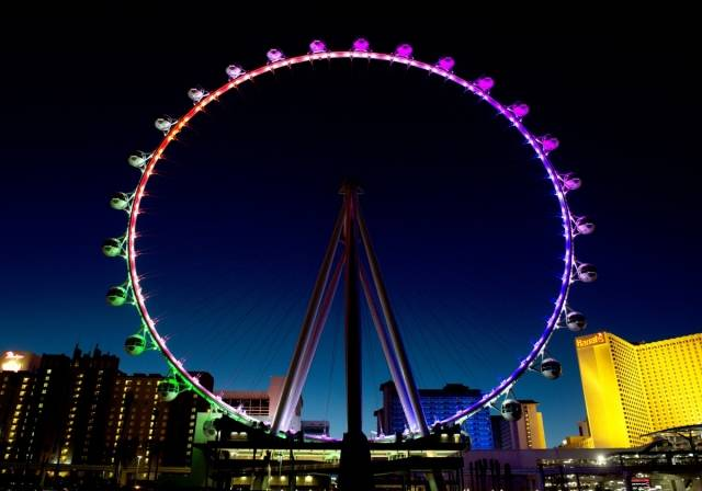 The Las Vegas High Roller received the Guinness World Record for World's Tallest Observation Wheel. Photo: Denise Truscello