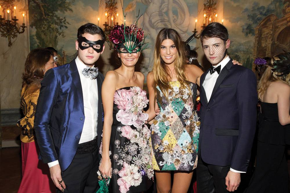 Peter-Brant-Jr,-Giovanna-Battaglia,-Coco-Brandolini-d'Adda-and-Harry-Brant