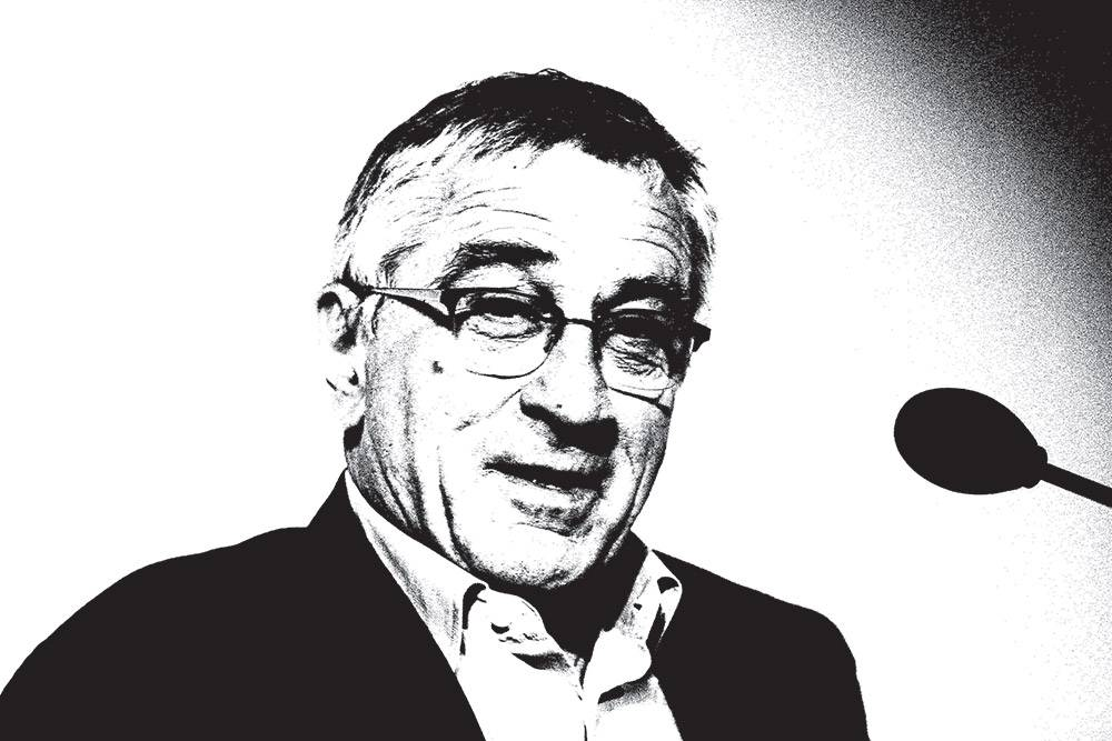 Robert-De-Niro-giving-a-speech_B&W_SKETCH