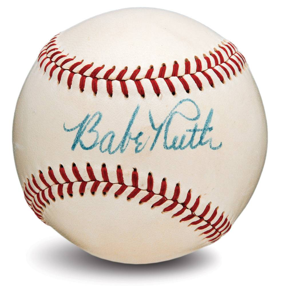 RuthSingleSignedBaseball