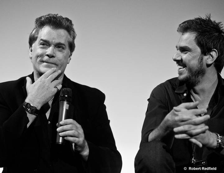 Opening night and screening of The Ice Man at Sonoma International Film Festival, April 10 - 14, 2013. Actor Ray Liotta and Director Ariel Vromen speak at the Sebastiani Theatre.