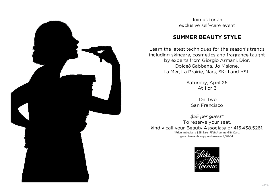 Saks Beauty Event