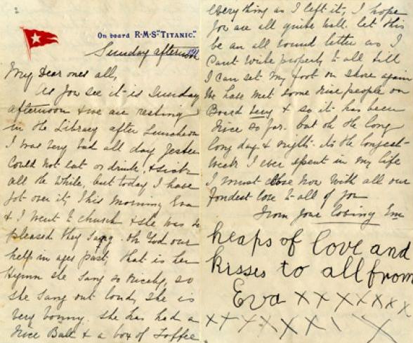Titanic letter