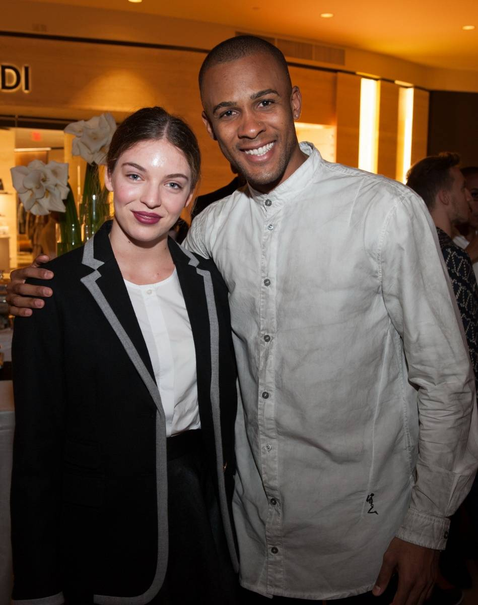 Segerstrom Center - Alvin Ailey 2014 cast party - Chloe Birkinder with Yannick Lebrun - photo by Doug Gifford (52)