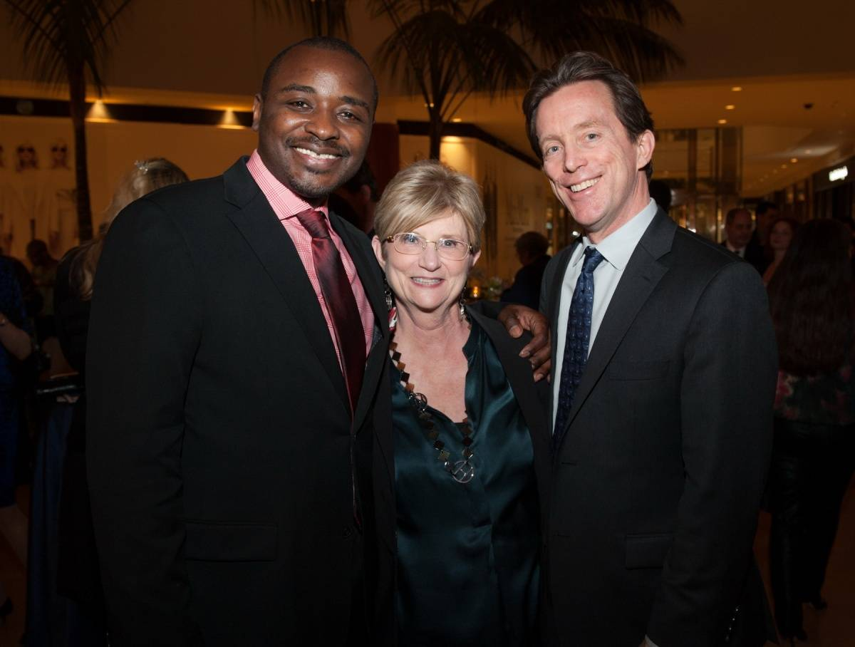 Segerstrom Center - Alvin Ailey 2014 cast party - Robert Battle,  Judy Morr and Terry Dwyer - photo by Doug Gifford