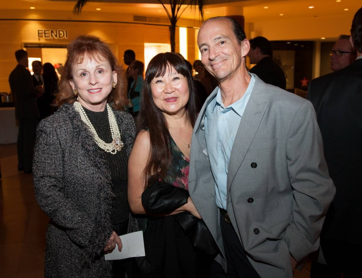 Segerstrom Center - Alvin Ailey 2014 cast party - Susan Strader, Kay Fukunaga and Dale Cangiano - photo by Doug Gifford