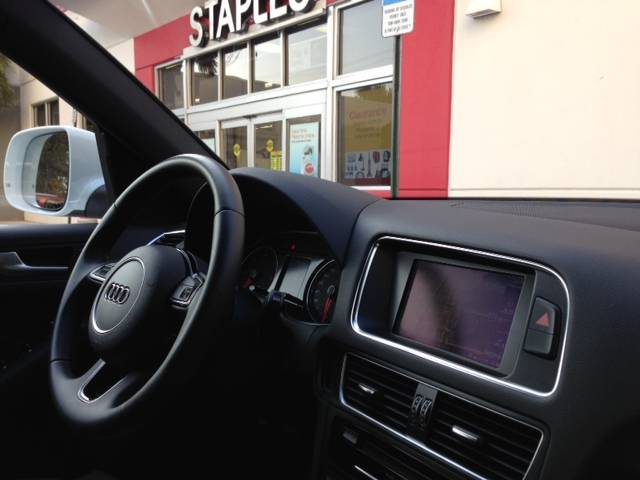 Staples in the audi