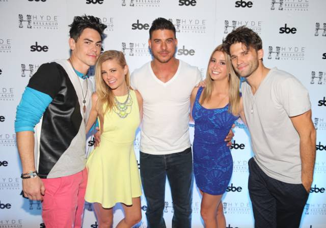 Tom Sandoval, Ariana Madix, Jax Taylor, Carmen Dickman and Tom Schwartz at Hyde Bellagio.