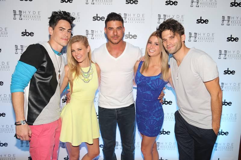 Tom Sandoval, Ariana Madix, Jax Taylor, Carmen Dickman and Tom Schwartz at Hyde Bellagio, Las Vegas, 4.26.14
