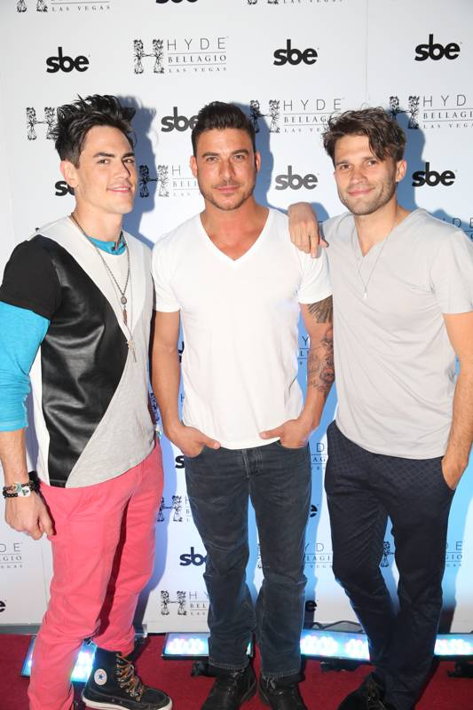 Tom Sandoval, Jax Taylor and Tom Schwartz of Vanderpump Rules at Hyde Bellagio, Las Vegas, 4.26.14