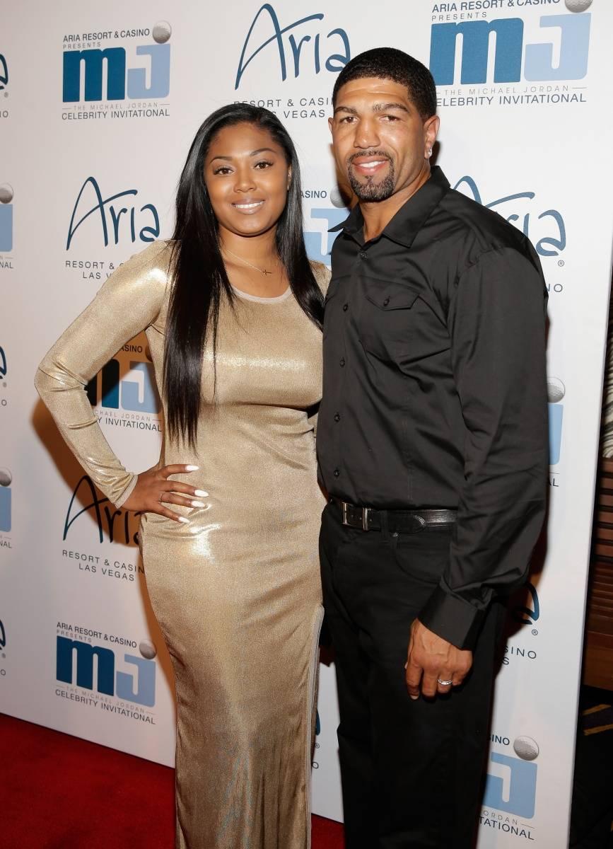 Winky Wright & wife at MJCI Gala ARIA Resort & Casino Las Vegas 4.4.14