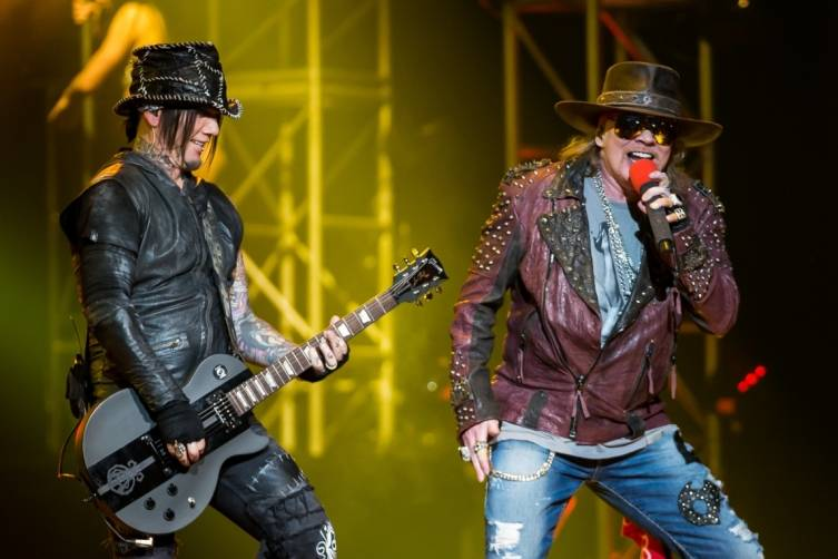 05.21.14_DJ Ashba and Axl Rose_The Joint_Photo Credit Erik Kabik