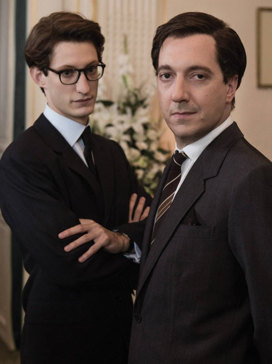 "Pierre Niney and Guillaume Gallienne in ""Yves Saint Laurent,"" which opens June 25th in NY and June 27th in LA"