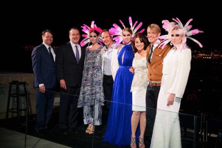 3- Matt Muldoon, Brian Burton, Scott Menke, Diana Bennett and Ken Downing with models