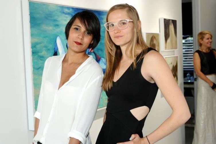 Artists Alison Bignon (L) and Gretchen Andrew