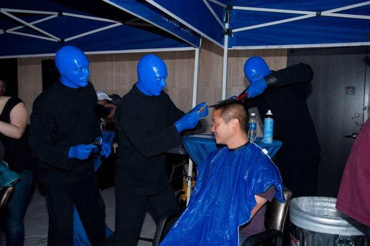 5.14.14  Blue Man Group ShoeZaphone Unveiling _photo credit Adrienne Griffin (3)