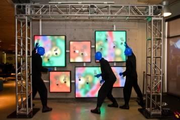 5.14.14  Blue Man Group ShoeZaphone Unveiling _photo credit Adrienne Griffin (5)