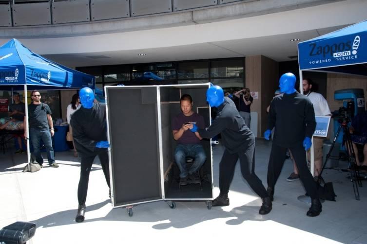 5.14.14  Blue Man Group ShoeZaphone Unveiling _photo credit Adrienne Griffin