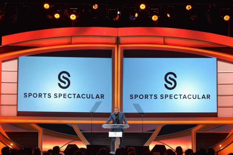 Actor Jesse Williams on stage at the 2014 Sports Spectacular Gala at the Hyatt Regency Century Plaza (Alberto E. Rodriguez,Getty Images)
