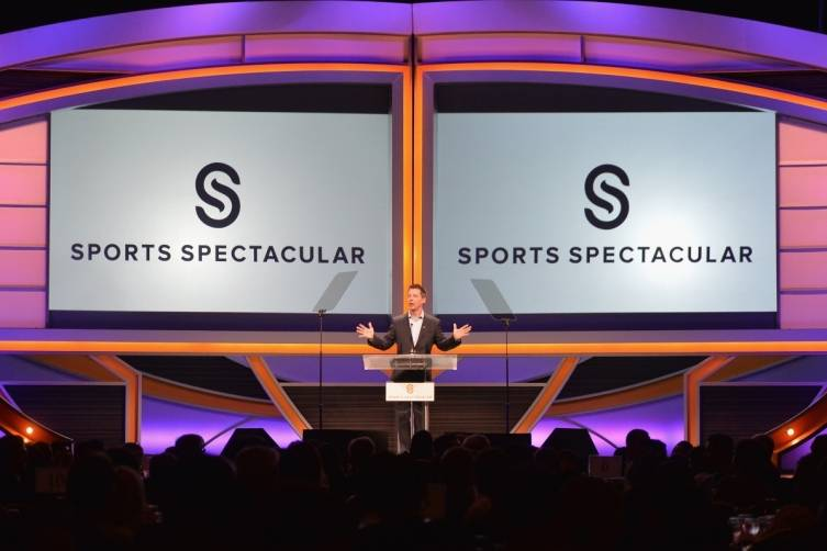 Actor Sean Hayes on stage at the 2014 Sports Spectacular Gala (Alberto E. Rodriguez,Getty Images)