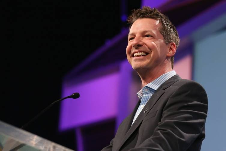 Actor Sean Hayes on stage at the 2014 Sports Spectacular Gala (Mark Davis:Getty Images)