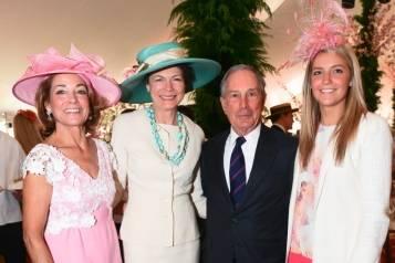 Anne Harrison, Diana Taylor, Michael Bloomberg, Katie Harrison