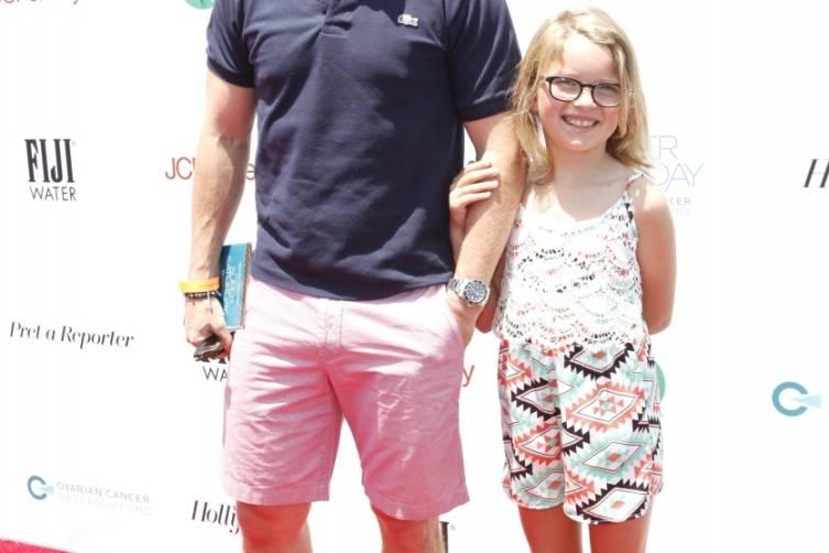 Billy Bush and daughter Lillie at Super Saturday LA on the CarpetJPG