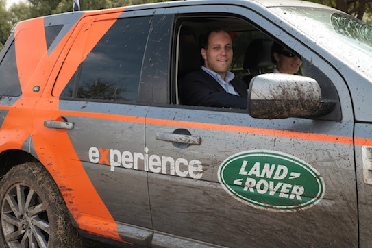 British Polo Day 4 - Lord Frederick Windsor enjoying the Land Rover Experience