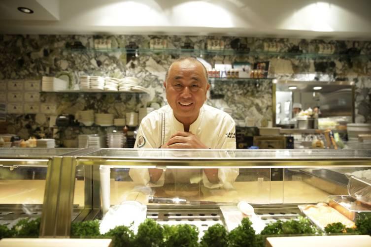 Chef Nobu Matsuhisa (credit Isaac Brekken for Bon Appetit)